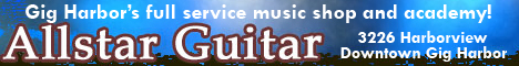 Gig Harbor music store, musice shop, guitars, amps, accessories, music lessons