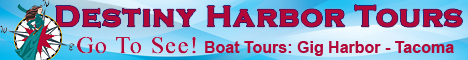 Gig Harbor boat tours, get out on the water, Tacoma, Gig Harbor