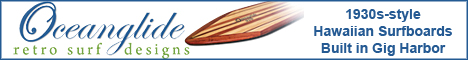 Authentic Hawaiian Surfboard reproductions, 1930-style long boards