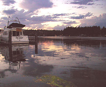 Fading Sunset Over Gig Harbor