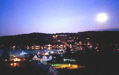 Winter Solstice Moon Over Gig Harbor