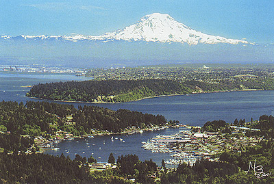 Gig Harbor/Mt. Rainier Aerial View